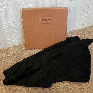 Louis Vuitton Black Silk Scarf
